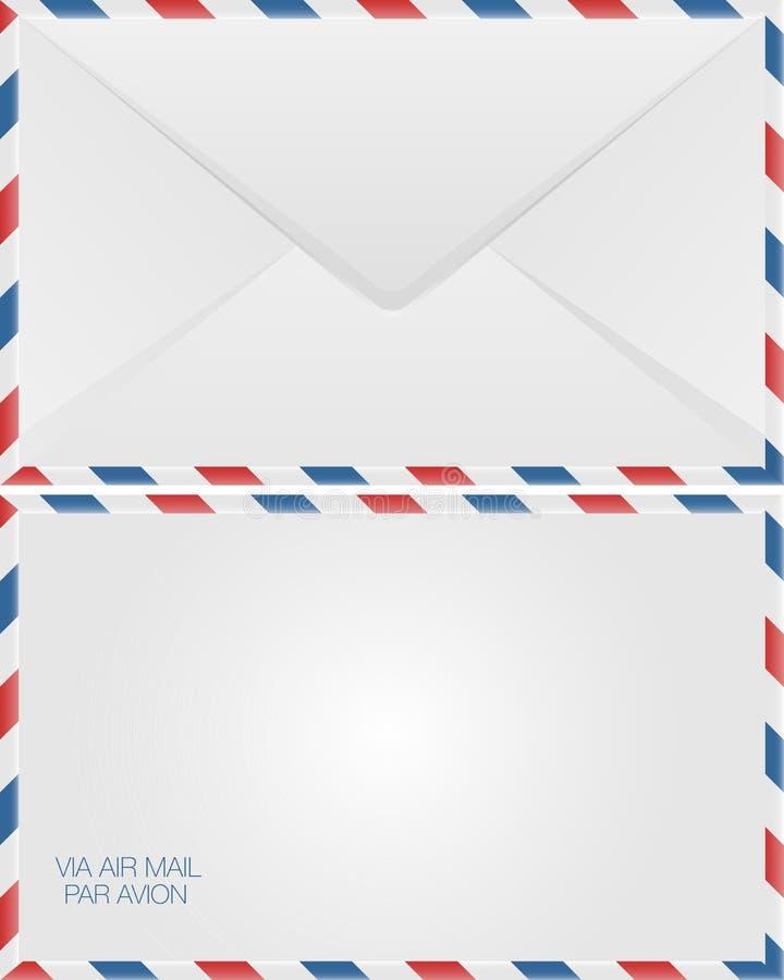 airmail koperta ilustracja wektor