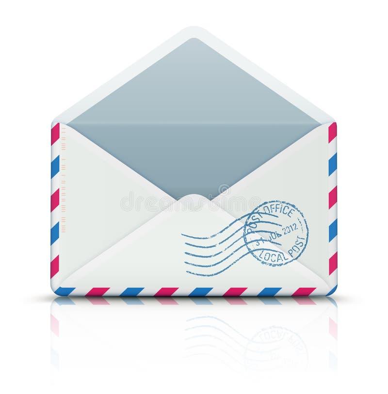 Airmail poczta koperta ilustracji