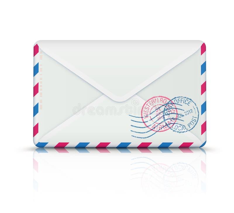 Airmail poczta koperta royalty ilustracja