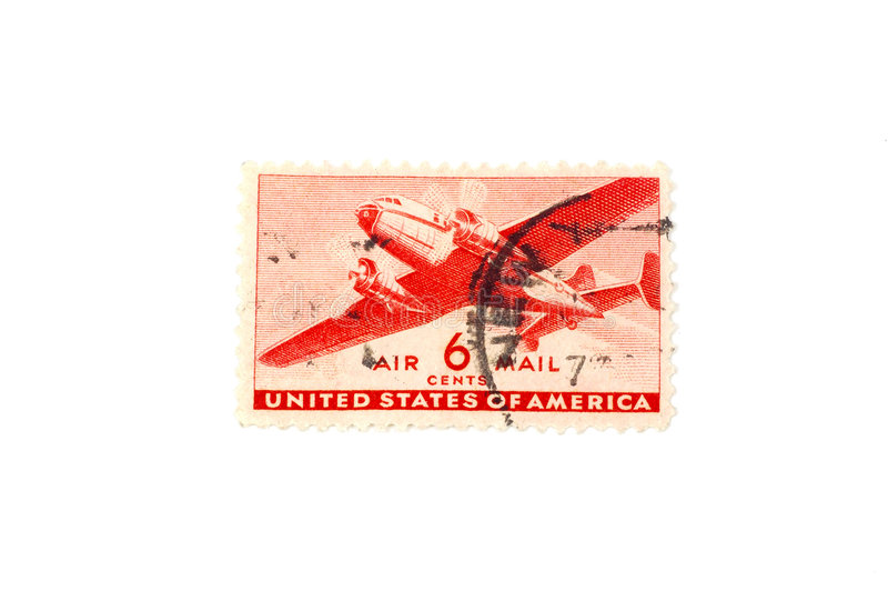 Airmail Stamp. Vintage Airmail Stamp stock photo