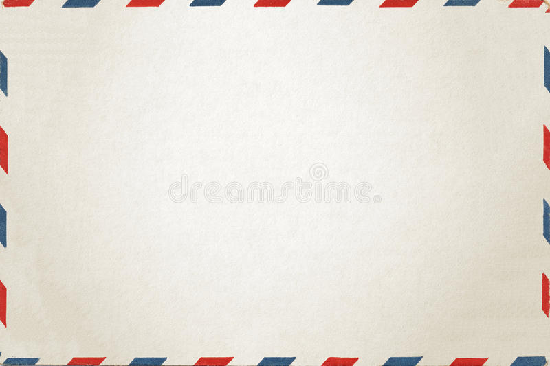 Airmail. White Airmail letter stock photo