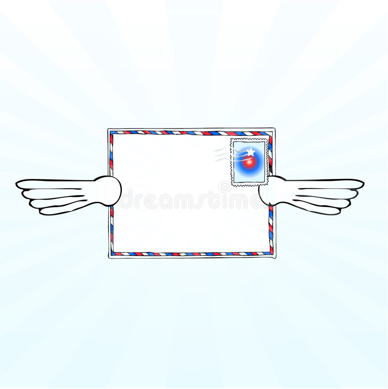 Airmail with wings