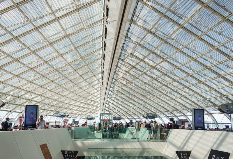 Airoport van Charles de Gaulle, Parijs, Frankrijk royalty-vrije stock afbeelding