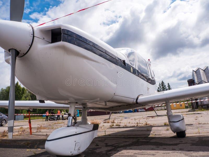 Airplain getto privato, mostra a Riga immagini stock