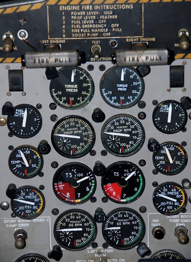 Airplaine Cockpit stockfotografie