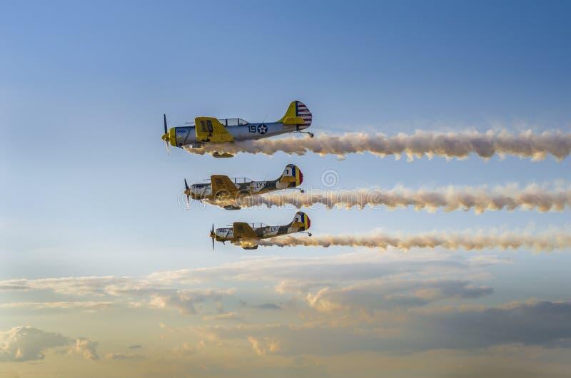 Airplains formacja obrazy royalty free