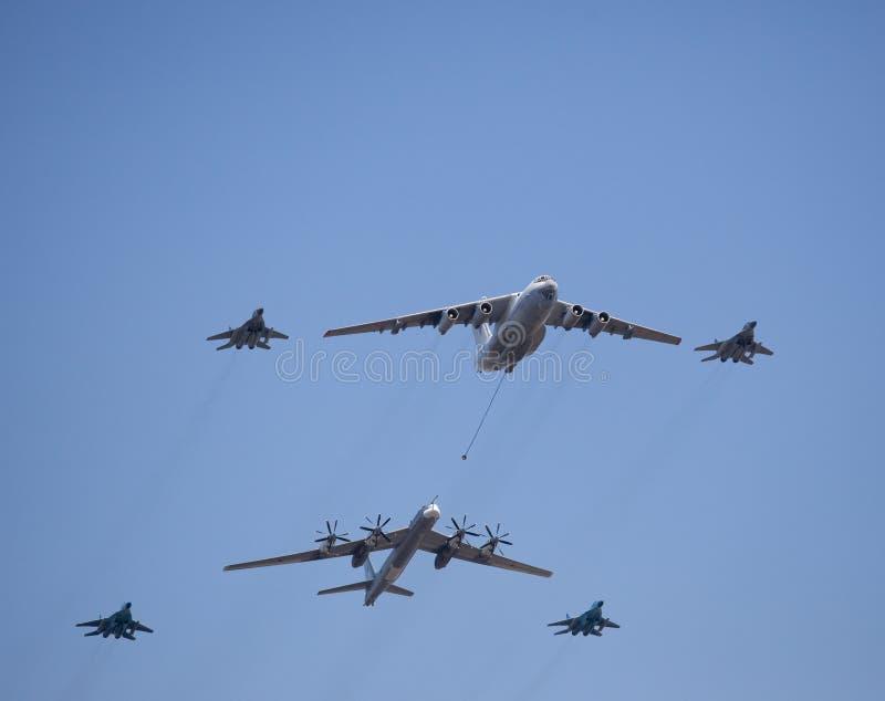 Airplains militares do russo, bombardeiros fotografia de stock royalty free