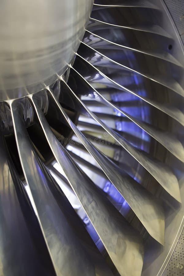 Airplan涡轮喷气引擎,关闭 免版税库存图片