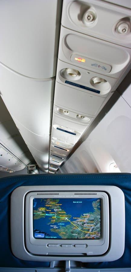 Airplan interior stock image