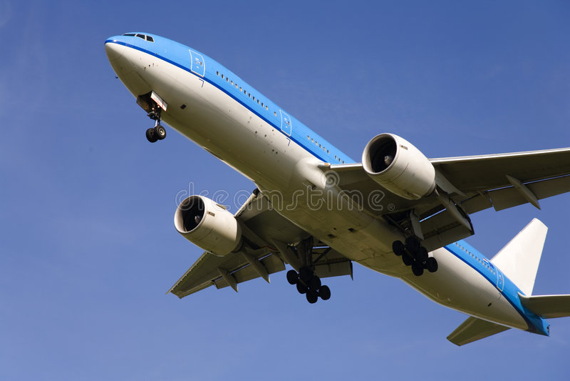 Airplane 13 stock image