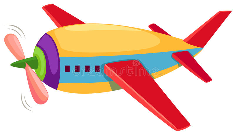 Airplane. Illustration of isolated airplane on white background vector illustration