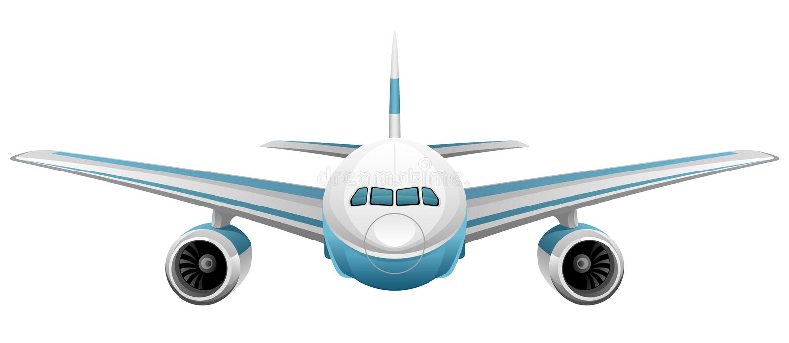 Airplane. On a white background royalty free illustration