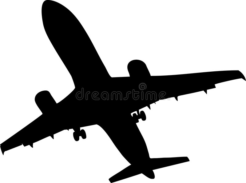 Airplane. Illustration of a airplane silhouette stock illustration
