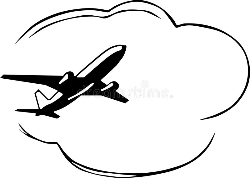 Airplane royalty free illustration