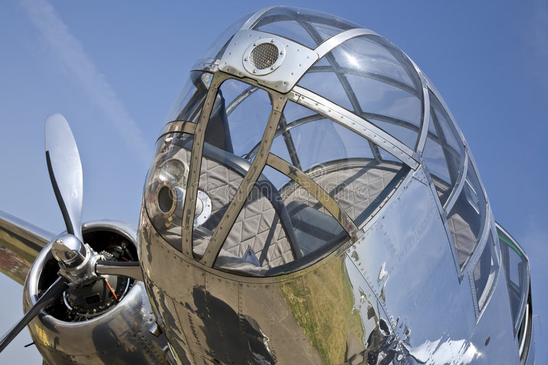 Airplane. Secound World War bomber aircraft royalty free stock image