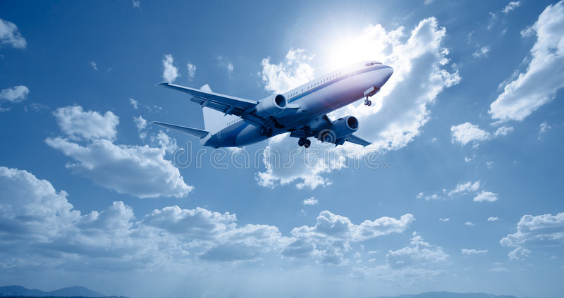 Airplane stock photos