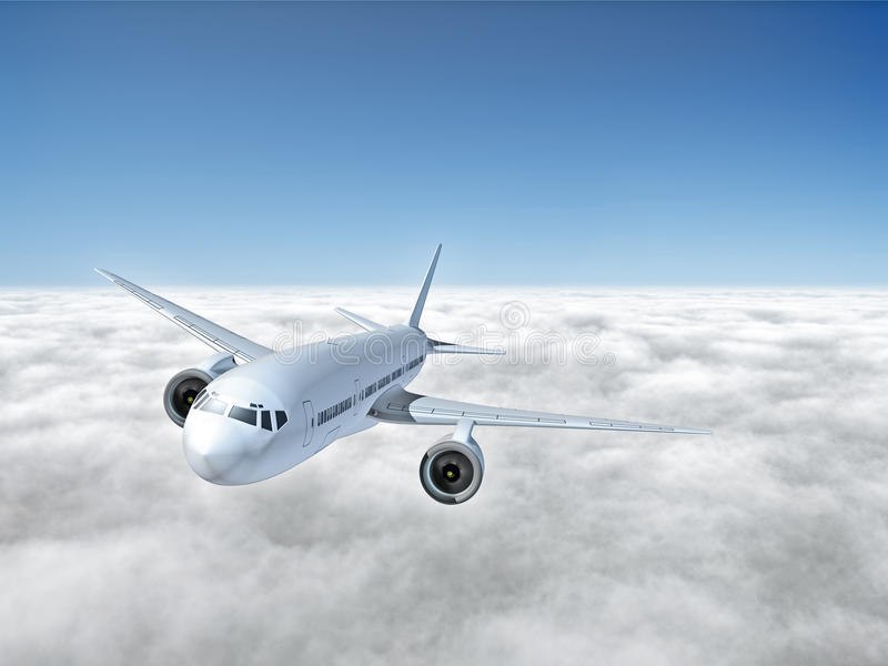 Download Airplane above clouds stock illustration. Image of background - 19085192