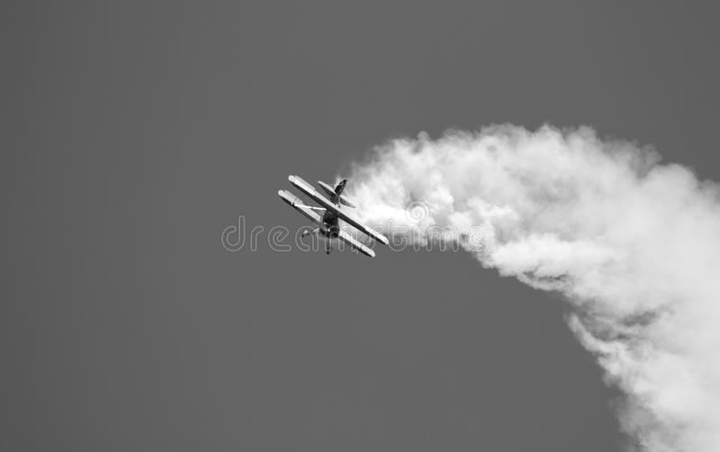 Airplane. This is an acrobacy aircraft. The shot was taken at Secuk-Ephesus-Izmir Air Festival. The drop is under record royalty free stock images