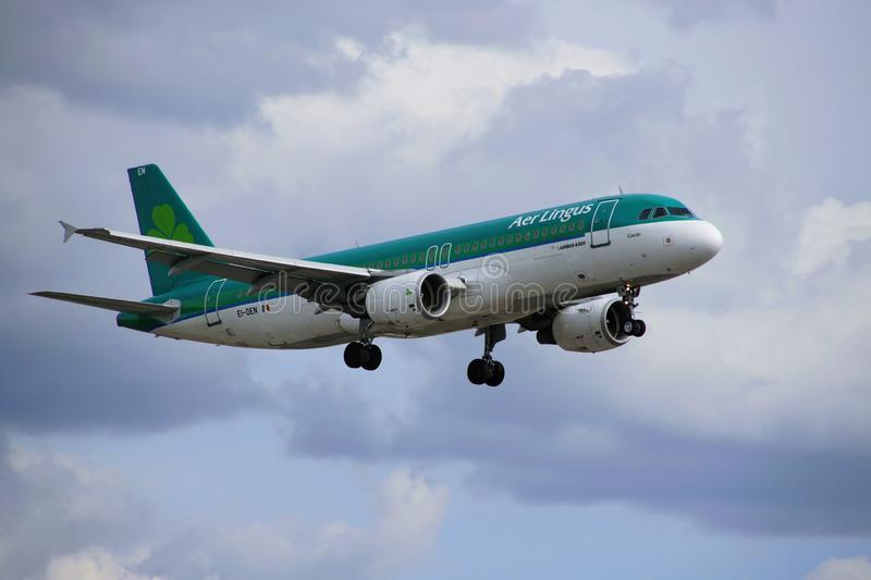 Airplane of Aer Lingus royalty free stock photography