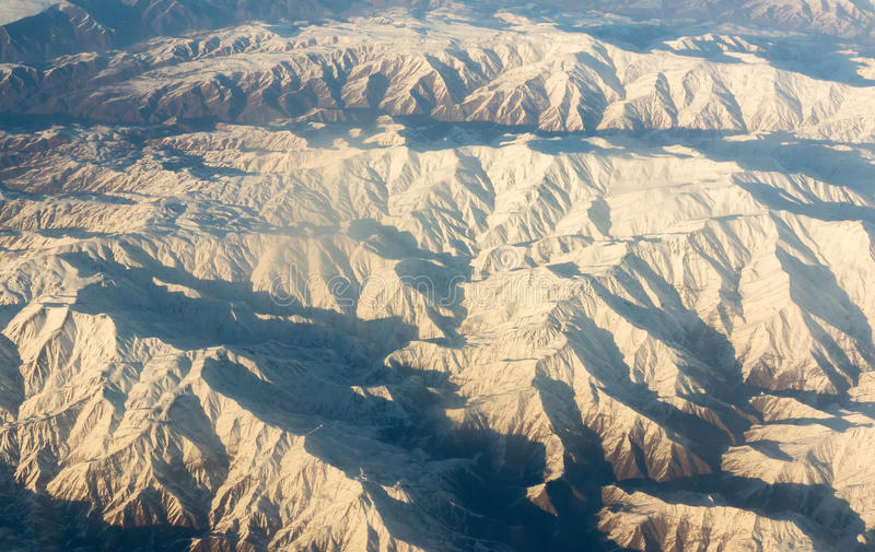Airplane aerial photograph royalty free stock images