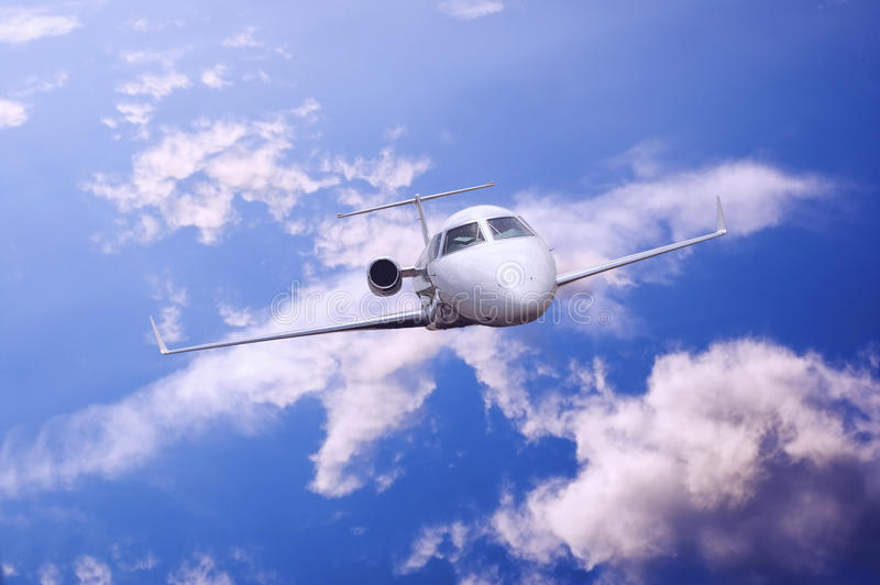 Airplane In Air Stock Photography
