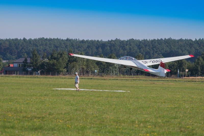 Airplane, Aircraft, Gliding, Flight stock image