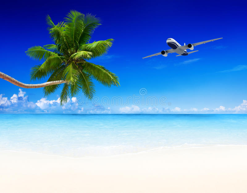 Airplane Aircraft Travel Business Transportation Concept royalty free stock image
