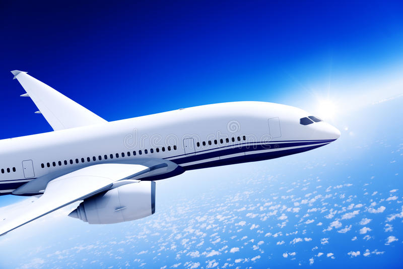 Airplane Aircraft Travel Business Transportation Concept royalty free stock photos