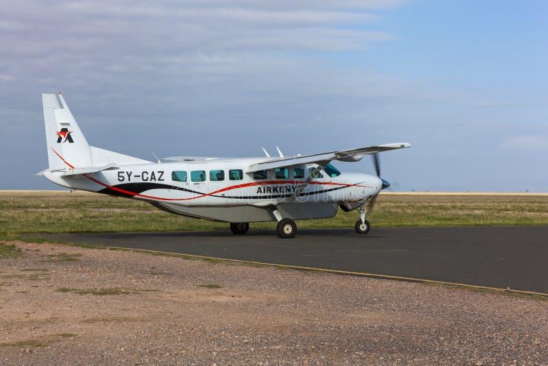 Airplane of Airkenya stock photos