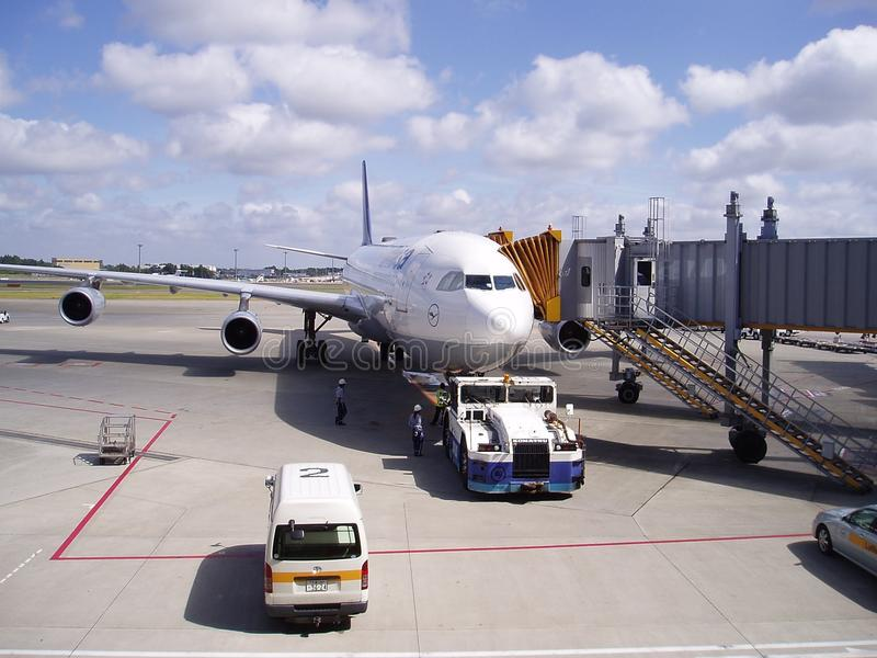 Airplane, Airliner, Wide Body Aircraft, Aircraft royalty free stock photo