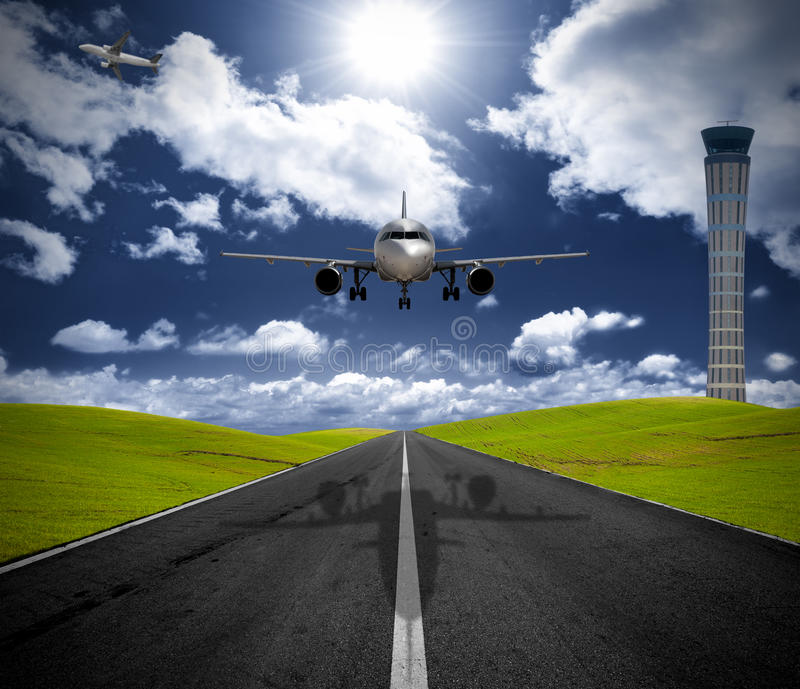 Download Airplane in the airport stock photo. Image of modern - 17313060