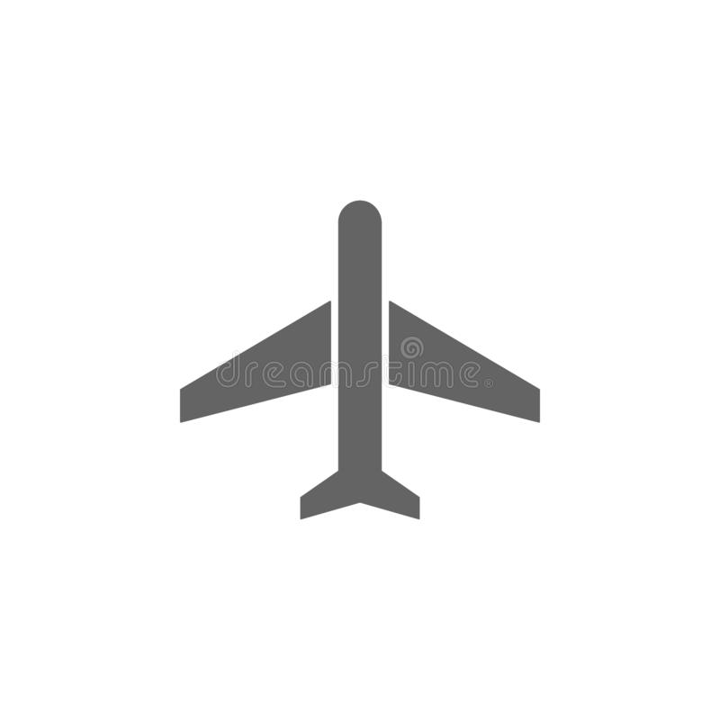 Airplane, airport icon. Element of simple transport icon. Premium quality graphic design icon. Signs and symbols collection icon. For websites on white royalty free illustration
