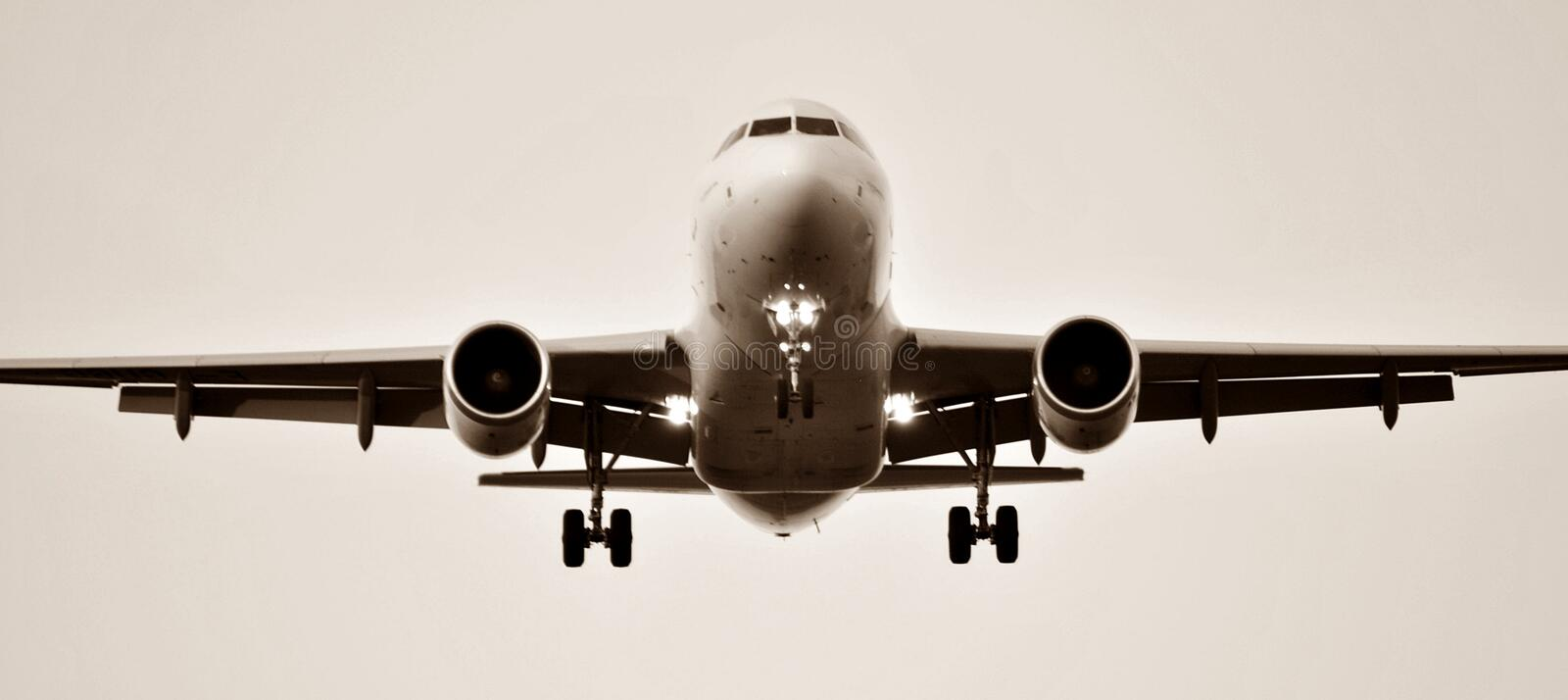 Airplane at the airport royalty free stock photography