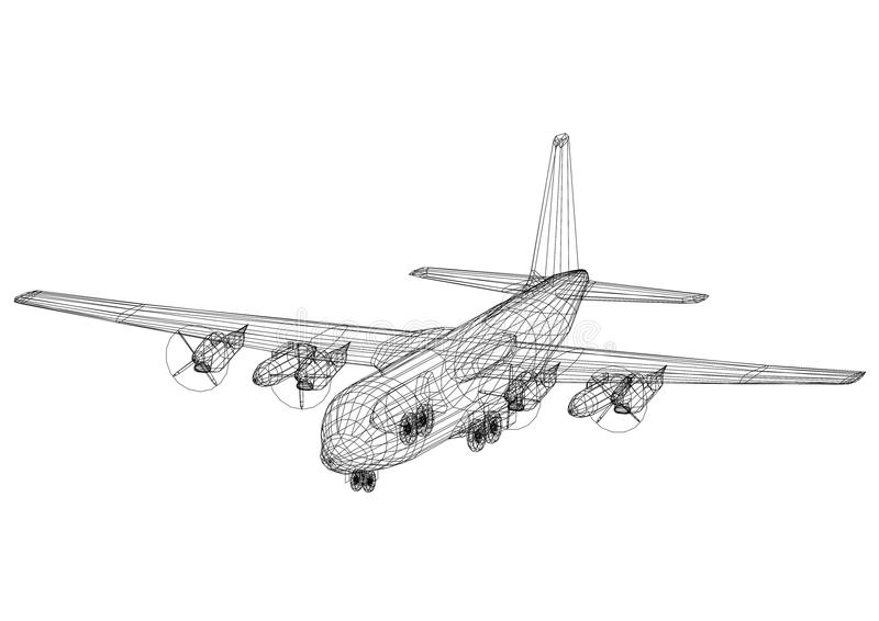 Airplane Cad Stock Illustrations – 49 Airplane Cad Stock