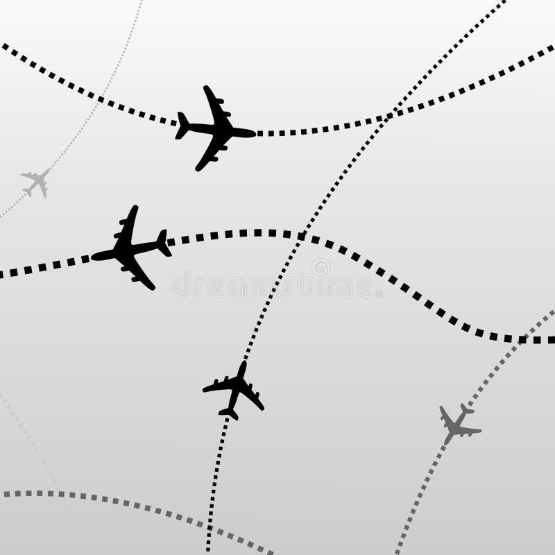 Airplane backgorund stock photo