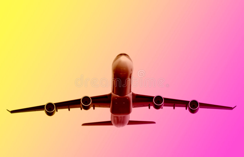 Download Airplane background stock illustration. Image of flight - 4240190