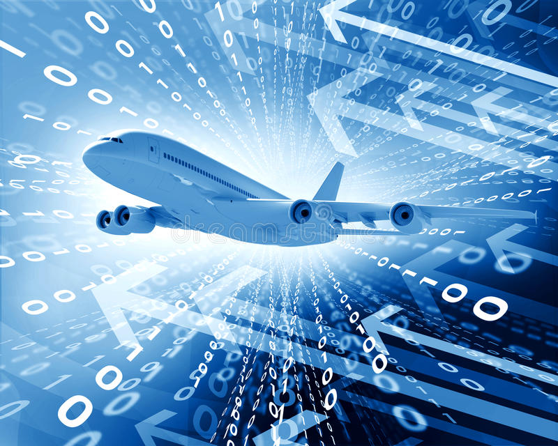 Download Airplane With The Background Of Figures And Arrows Stock Photo - Image of graph, business: 41427438
