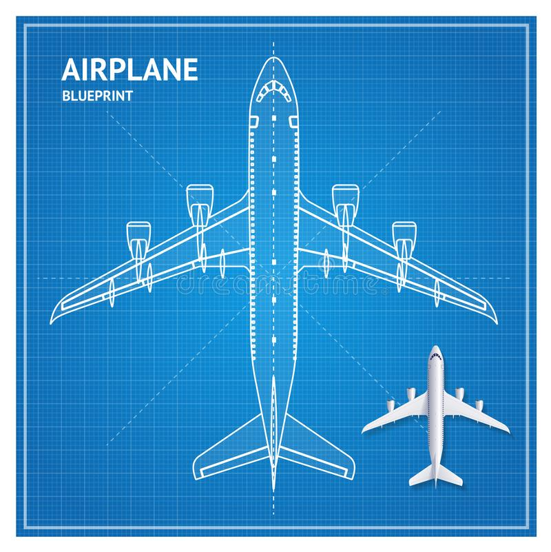Airplane blueprint plan top view vector stock vector illustration download airplane blueprint plan top view vector stock vector illustration of icon sign malvernweather Image collections