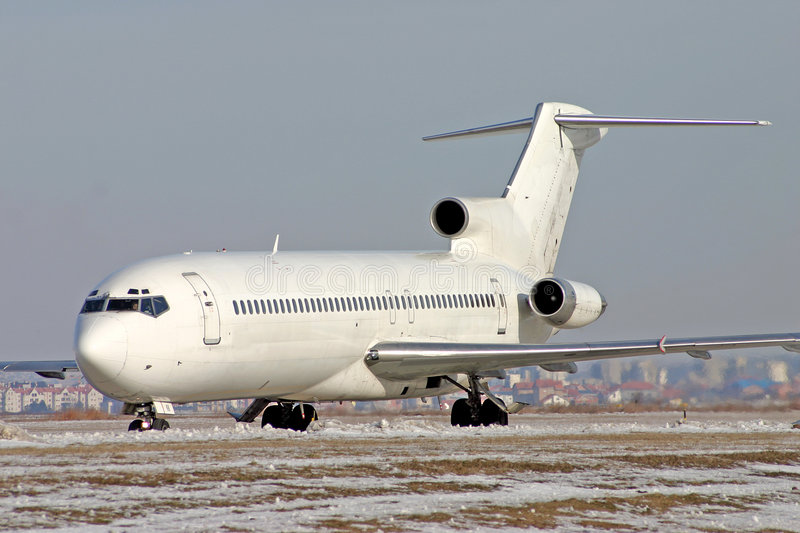 Airplane Boeing 727 stock images