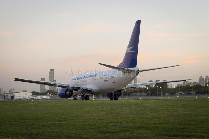 Airplane Boeing 737 stock images