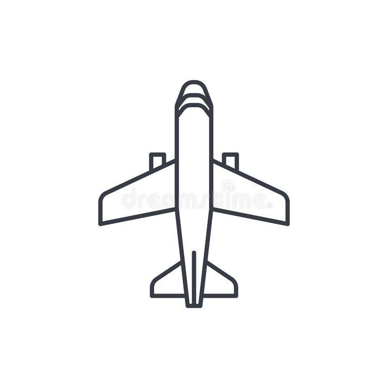 Airplane Boeing Plane Travel Thin Line Icon Linear Vector Symbol