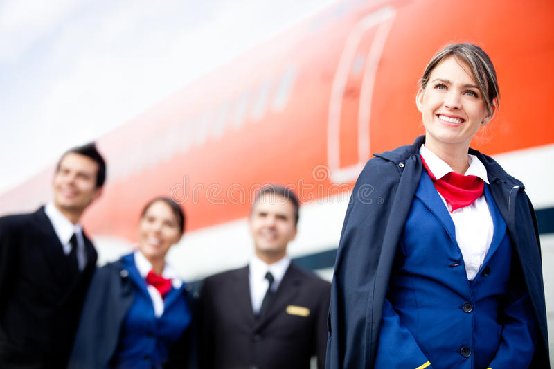 Download Airplane cabin crew stock image. Image of hostess, aircraft - 23693657