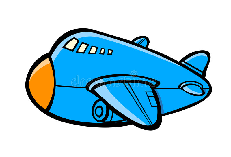 Download Airplane cartoon stock vector. Image of orange, aero, soar - 7741940