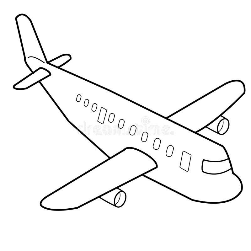 Download airplane cartoon outline vector stock vector illustration of move drawing 35141911
