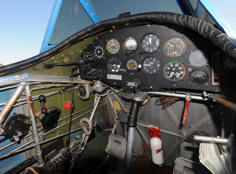 Download Airplane cockpit stock photo. Image of instrument, aviation - 12480102
