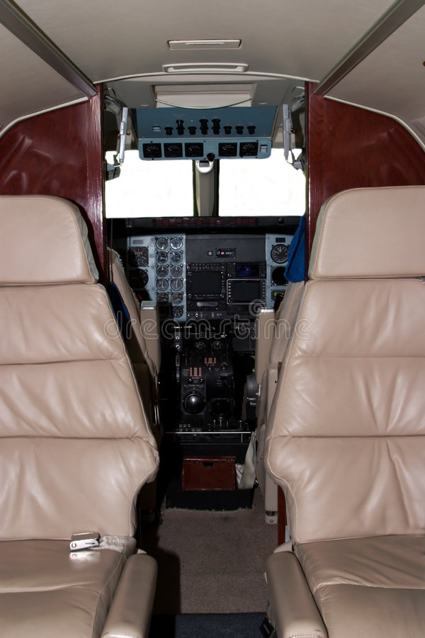 Airplane Cockpit royalty free stock photos