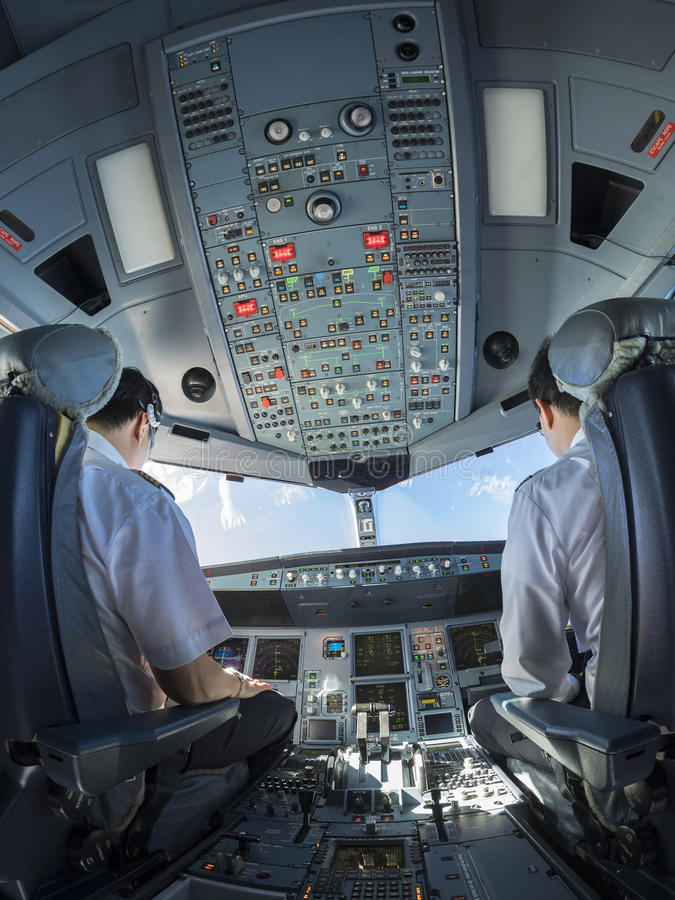 Free Airplane Cockpit Fisheye View During Day Time Royalty Free Stock Photos - 59132798