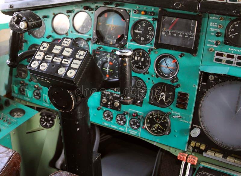 Airplane Cockpit royalty free stock image