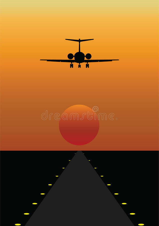 Airplane Coming In To Land Royalty Free Stock Images