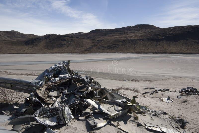 Airplane crash stock image